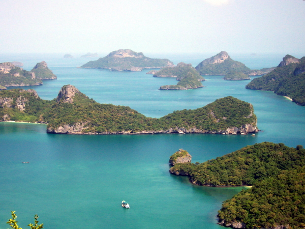 The Angthong National Marine Park near Samui